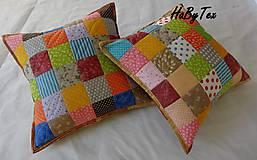 Úžitkový textil - Vankúš - farebné kocky - 9977182_