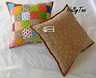 Úžitkový textil - Vankúš - farebné kocky - 9977184_