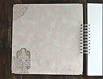 Papiernictvo - Luxusný XXXL svadobný album - Púdrové objatie - 9975880_