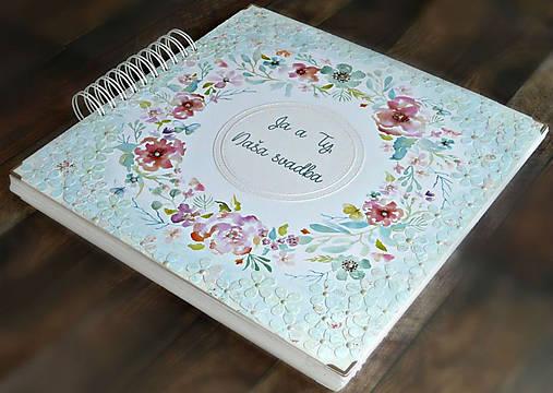 Luxusný XXXL svadobný album - Púdrové objatie