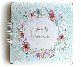 Papiernictvo - Luxusný XXXL svadobný album - Púdrové objatie - 9975863_