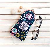 Taštičky - Púzdro na okuliare Zmes kvetov - 9975571_