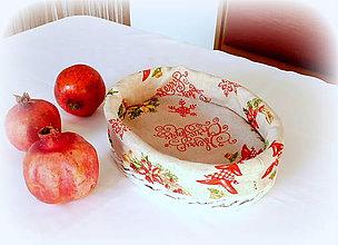 Košíky - Košík vianočný (27 x 19 výška 7 cm košík) - 9975676_