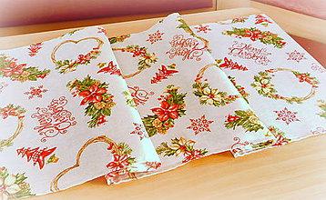 Košíky - Košík vianočný (obrus obdĺžnik 140 x 40 cm) - 9975692_
