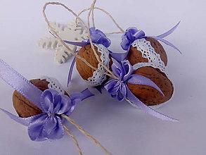 Dekorácie - Vianočné oriešky fialové - 9977499_