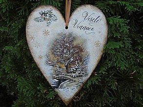 Tabuľky - srdce- veselé vianoce - 9976562_