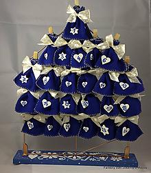 Dekorácie - adventný kalendár Modrý - 9977937_