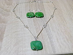 Sady šperkov - Zelená sada - 9980657_