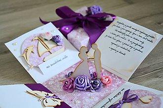 Papiernictvo - Blahoželanie na svadbu - krabička na peniaze - 9980937_