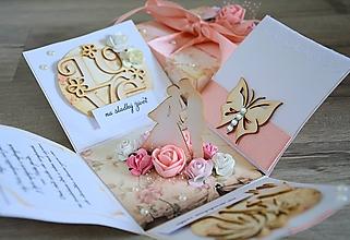 Papiernictvo - Blahoželanie na svadbu - krabička na peniaze - 9981033_