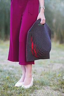 Veľké tašky - Minimalistická taška z melírovanej merino plsti - 9981117_