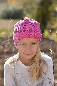 Detské čiapky - Zľava zo 14 na 10 eur - Pink čiapka - 9980278_