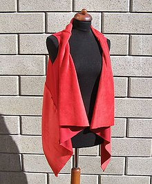 Iné oblečenie - ZĽAVA Červená vesta - 9978873_