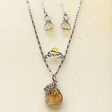 Sady šperkov - sada šperkov s citrínom v oceli - 9979294_