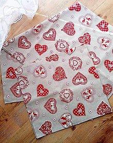 Úžitkový textil - sada vidieckych vianočných obrusov - 9979102_