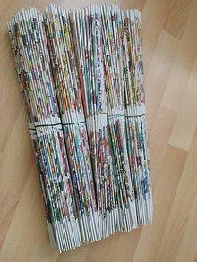 Materiál ručne robený - Papierové ruličky - 9979414_