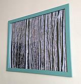 Obrázok na stenu 43x33 cm (Zimný les)