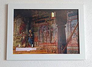 Obrázky - Obrázok na stenu 33x24 cm (V drevenom chráme) - 9979409_