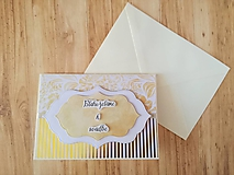 Papiernictvo - Blahoželanie k svadbe - 9978447_