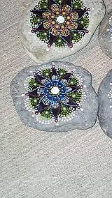 Dekorácie - Gaderská štvorka - Na kameni maľované (Modrá) - 9980290_