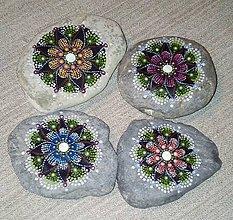 Dekorácie - Gaderská štvorka - Na kameni maľované (Tyrkysová) - 9980307_