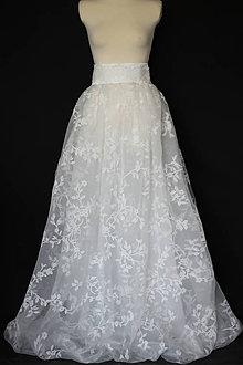 3b1a725d9c0c Sukne - Svadobná sukňa z kvetovanej jemnej organzy ZĽAVA - 9979230
