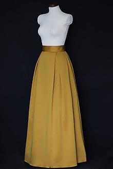 Sukne - Zlato-škoricová skladaná sukňa so spodničkou - 9979333  a24ce347a2d