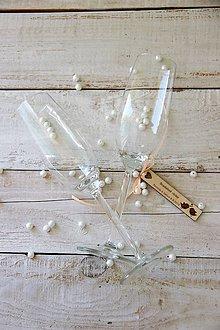 Darčeky pre svadobčanov - Drevená svadobná visačka - 9979961_