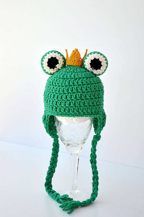 Žabí princ ~ čiapka na fotenie