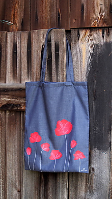 Nákupné tašky - Plátená taška ručne maľovaná- poľné kvety - 9980137_