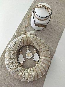 Dekorácie - Jemný vianočný veniec ~ prírodný ~ - 9978768_
