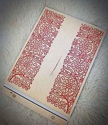 Papiernictvo - Drevený folklórny fotoalbum - 9981090_