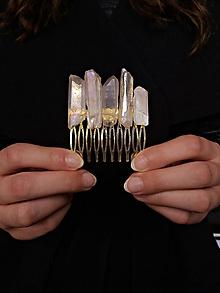 Ozdoby do vlasov - Hrebienok s krištáľmi - 9980040_