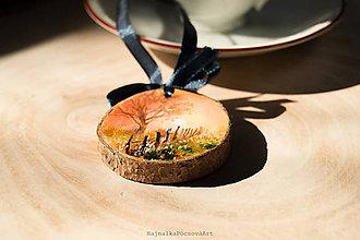 Dekorácie - Mini maľovaná krajinka - 9981219_
