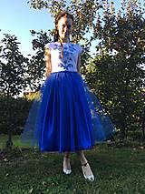 Šaty - Modré šaty - 9978564_