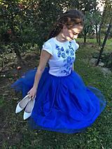 Šaty - Modré šaty - 9978565_