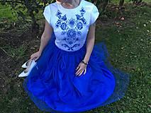 Šaty - Modré šaty - 9978566_