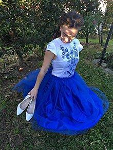 Šaty - Modré šaty na stužkovú - 9978563_