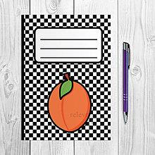 Papiernictvo - Zápisníky šachovnica ovocie (marhuľa) - 9978888_