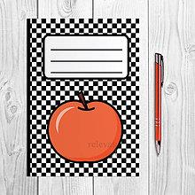 Papiernictvo - Zápisníky šachovnica ovocie (jablko) - 9978890_