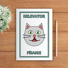 Papiernictvo - Minimalistické školské zošity pre prváčikov (mačička) - 9979078_