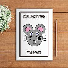 Papiernictvo - Minimalistické školské zošity pre prváčikov (myška) - 9979103_