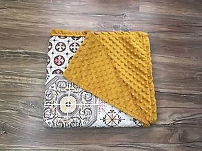 Úžitkový textil - Deka Vzorovaná horčicová - 9981676_