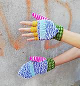 Rukavice - Otváracie pestré rukavice - 9983088_