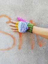 Rukavice - Otváracie pestré rukavice - 9983089_