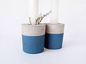 Svietidlá a sviečky - betónový svietnik Hold me Up - 9984872_