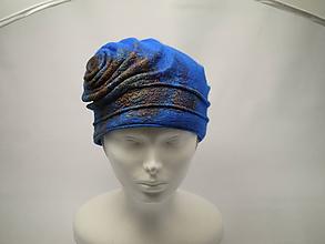 Čiapky - Klobúk modrý-limitovaná kolekcia - 9984735_