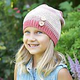 Detské čiapky - ZĽAVA z 14 eur na 10 eur Pásikavá čiapka - 9982182_