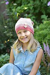 Detské čiapky - ZĽAVA z 14 eur na 10 eur Pásikavá čiapka - 9982183_