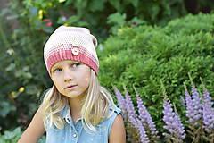 Detské čiapky - ZĽAVA z 14 eur na 10 eur Pásikavá čiapka - 9982185_